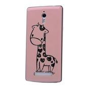 Силиконовый чехол Realplay Pink Deer для Oppo find 7