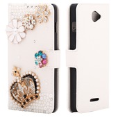 diamond case white Color stone crown для Coolpad 8730L