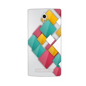 Пластиковый чехол GUGUMM Colorful Grid для Oppo find 7