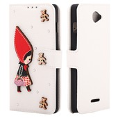 diamond case white Little red riding hood для Coolpad 8730L